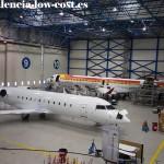 Aviones en mantenimiento