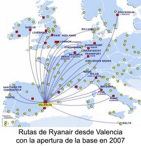 Ryanair base 2007